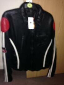 Brand new leather biker jacket