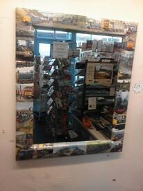 MIRROR FEATURING BR LOCOMOTIVES.