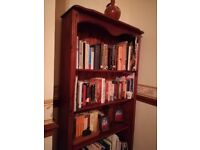 Solid cherry wood bookcase. 158cms h x 80 cms w x 23cms deep.