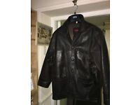 Great Looking Men's Vintage Real Leather Dark Brown Classic Style Jacket - Large