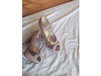 Nude size 7 high heels
