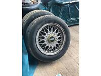 Bbs wheels mx5 Vw 4x100 set of 4 14""
