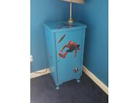 Bedside cabinet with spiderman design