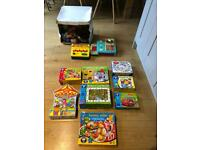 Puzzles and games for pre- school children.