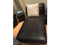 Real leather chaise