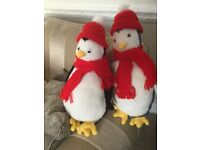 Hand Knitted Winter Penguins