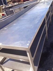 Heavy Duty Stainless Steel Table 144 inch x 30 inch