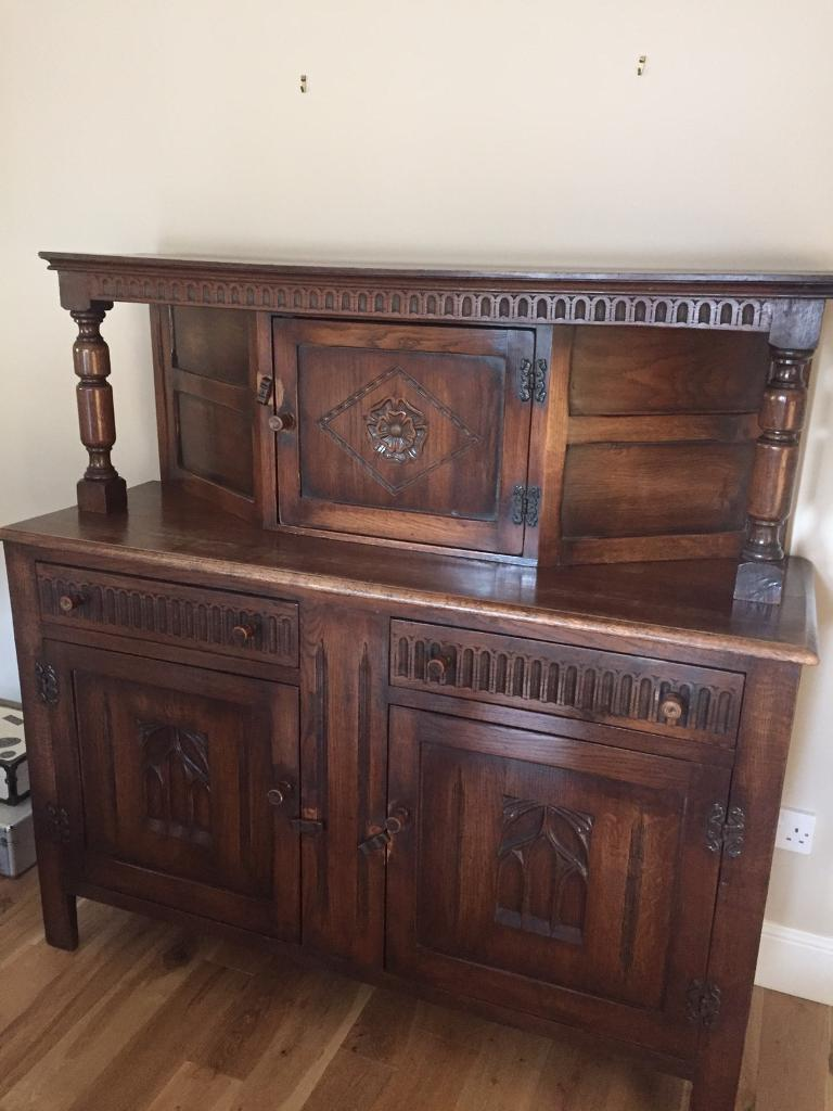 Genuine Antique Sideboard Drinks Cabinet Unit Lounge Dining Room Beautiful Piece Of Furniture