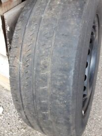 Wheel rim and tyre - 205/65 R16C - 5 bolt holes
