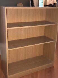 Ikea pine effect book shelf - used