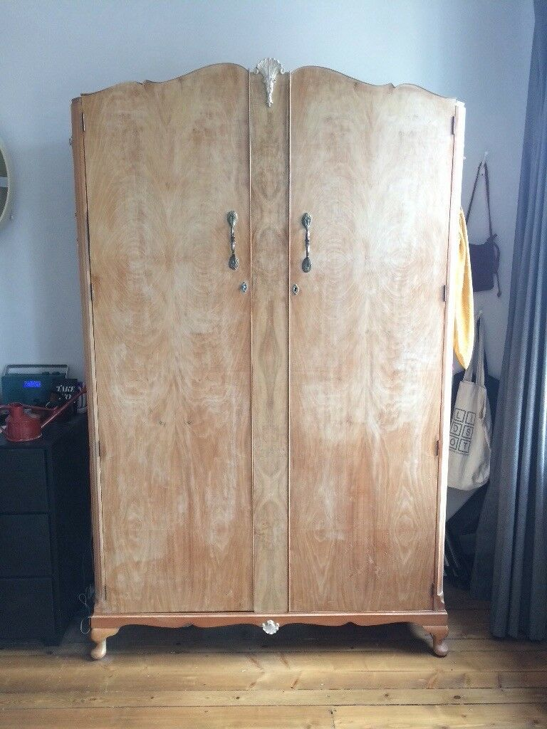 official photos 11e12 03844 Vintage large art nouveau wooden ornate wardrobe | in Wells Road, Bristol |  Gumtree