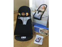 Baby Bjorn Bouncer and Wooden Toy - Excellent Condition