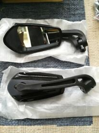 Motorcycle mirrors. Pair of mirrors brand new still in box.