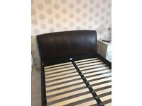 Leather M&S king size bed