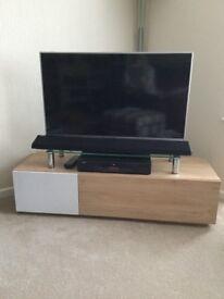 TV unit 'Hopkins' Oak effect mdf