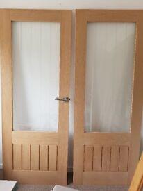 New double glass doors