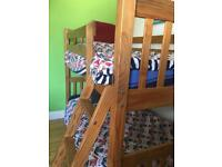 Solid wood bunk beds for sale - converts to 2 single beds