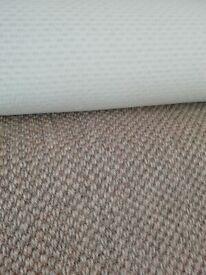 Sisal carpet offcut 240cm x 204cm