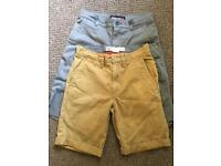 2 pairs of kids shorts (Vans & Quicksilver) 10 year olds