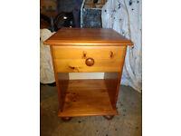 Solid Pine bedside table, antique pine colour