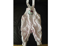 H&M beautiful Hello Kitty pink designer dungerees 6-9m