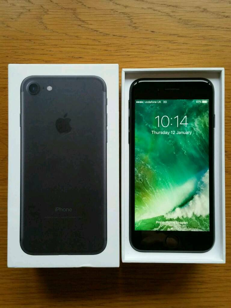 IPhone 7 32gb Black Brand New Conditionin NewportGumtree - IPhone 7 32gb Black on Vodafone,Lebara mobile networks.Phone around 7 weeks old and still on Apple warranty. Phone in excellent like new condition,no scratches or marks all around (see photos,please) and all works perfectly.Tempered glass screen...