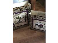 Shabby chic. Metal shopping bags. Great for boutique shop beauty hair