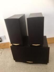 Speakers- Kenwood F500 Stereo Speakers & Subwoofer (Passive)