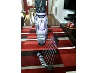 Ladies left hand half set golf clubs and bag