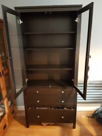 ikea cabinet with glass