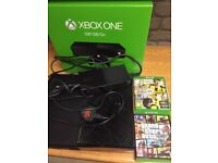 500gb Xbox one with 1 controller and 3 games