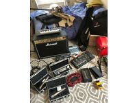 Marshall amp, mics, pedals, mixers, keyboards etc - massive job lot priced to sell quickly