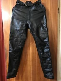 Leather motorcycle trousers. Ladies size 8. REDUCED! Urgent sale