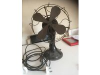 Antique art deco desktop fan
