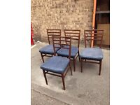 1960's Stylish Meredew set of 4 dining chairs