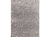 carpet twist grey polypropylene - light/medium grey 2.4m x 4m - new off-cut