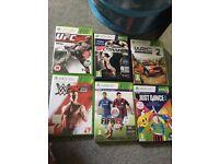 Various Xbox 360 games selling separate or as bundle