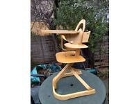 Svan Highchair - a brilliantly designed highchair that grows with your child. Retails new for £180