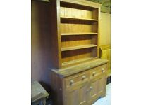 SOLID PINE DRESSER. Delivery poss. Also for sale: PEW, CHURCH CHAIRS & MORE OLD FURNITURE.