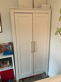 Mamas and Papas wardrobe and baby changer chest with three drawers