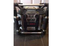 Blue bosch on site waterproof radio with all power points to link up for quick sale