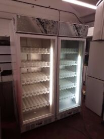 Husky C6HY Upright Display FRIDGE, Catering cans bottles Cooler (2 available)