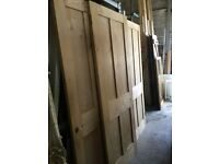 WE HAVE LOTS OF 1890 PINE DOORS 4 PANEL IN GOOD CONDITION VARIOUS SIZES £60 each