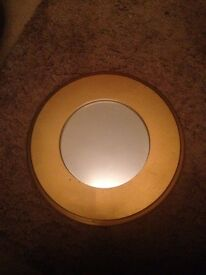 Small bronze / old gold coloured mirror. Suit small room, Wgc, hall,