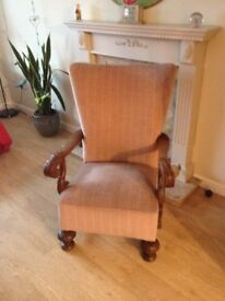 Pair Victorian Armchairs