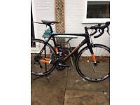 Carbon Raleigh road bike