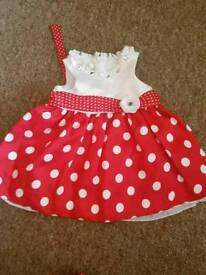 A lovely 4-6 months girls party dress.