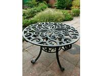 Antique garden table.