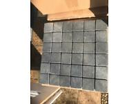 Mosaic tiles Black Lava Basalt Rock