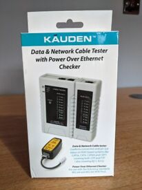 Kauden Data & Network Cable Tester, with Power Over Ethernet Checker